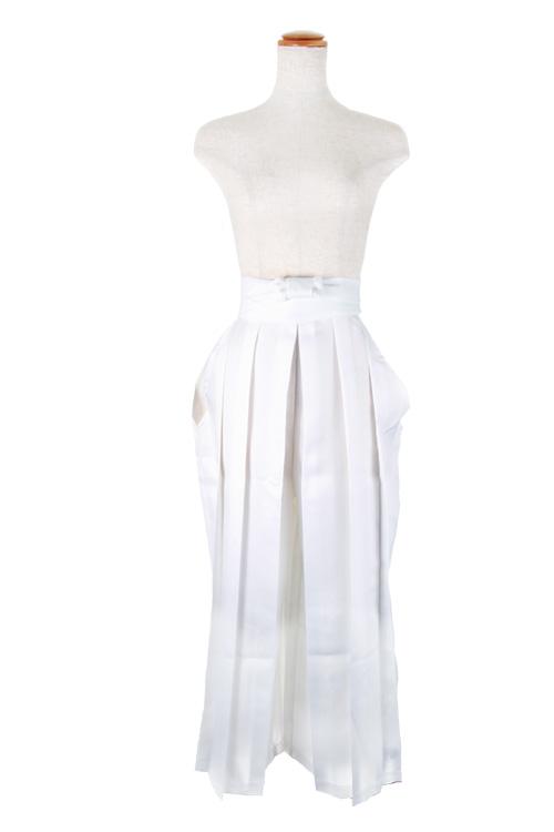 袴/ホワイト 白 フリーサイズ/アパレル 4000-6-wh
