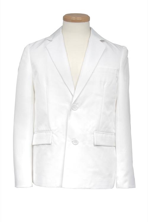 テーラードジャケット/ホワイト 白 S〜LL /アパレル 4000-1-wh