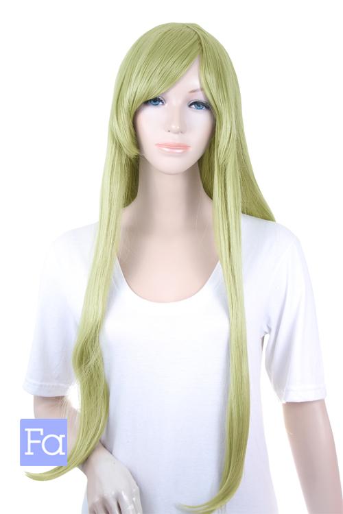 【スプリンググリーン】ロングストレート lo-t0532
