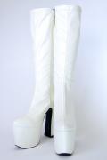 【送料無料♪】 プレーンソフトブーツ (白)◇足元のメイキングもバッチリ◇【Swallowtail Original】3000-3-WH