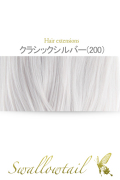 103【クラシックシルバー】毛束 ex-200