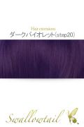 064【ダークバイオレット】毛束 ex-step20