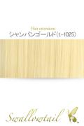 068【シャンパンゴールド】毛束 ex-t1025