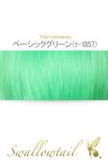 073【ベーシックグリーン】毛束 ex-t1857