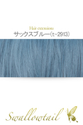 039【サックスブルー】毛束 ex-t2913