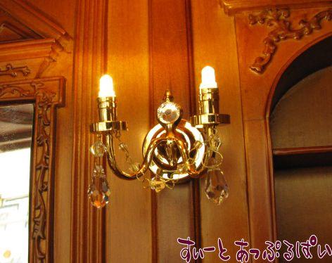 【3V電池式LED照明】 スワロフスキークリスタル ウォールランプ 2灯   HKL-CR-779