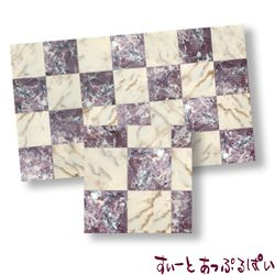 【スペイン製】 ドールハウス用タイルシート 大理石 パープル x ホワイト 245x140 mm WM34728