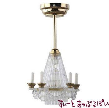 【3V電池式LED照明】 ダミーシャンデリア HW2314