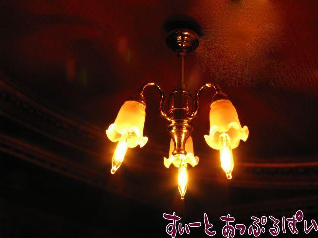 【1/24サイズ】【12V照明】 シャンデリア ゆり3灯 HWH2607
