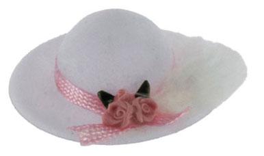 白の羽つき帽子 IM65298