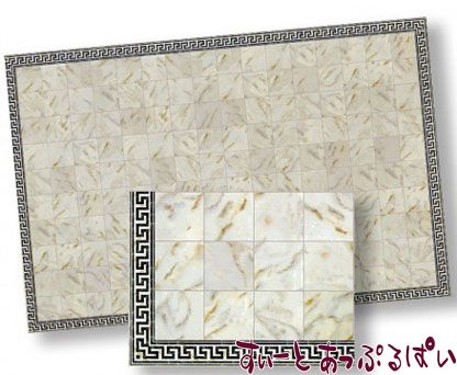 【1/24サイズ】【スペイン製】 ドールハウス用 大理石シート アイボリー  207 x 134 mm WM24734