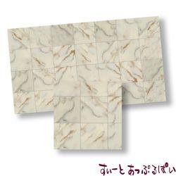 【スペイン製】 ドールハウス用タイルシート 大理石 ホワイト 245x140 mm WM34723