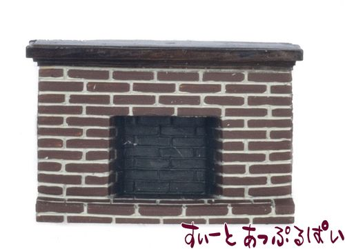 【1/24サイズ】 ブリック暖炉 AZYM0219