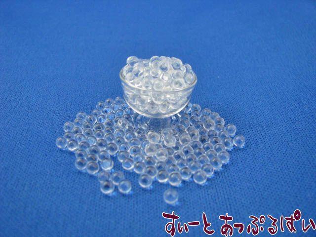 穴なし透明ガラスビーズ 直径3mm 10gパック  ANBD-01