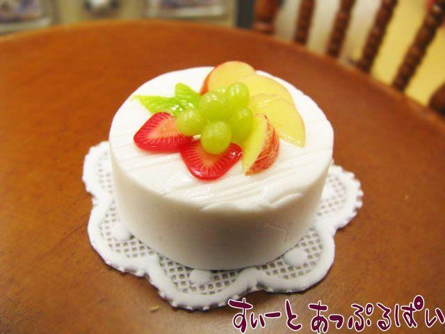 【ドイリー付き】 ホールケーキ チーズクリームのフルーツケーキ SWCK01