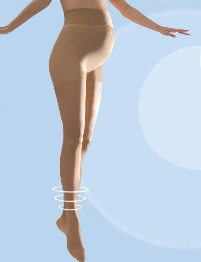 フランスインポート マタニティストッキング すっきり美脚 優しい着圧 30デニール 【カシュクール】アクティブ ライト cm400