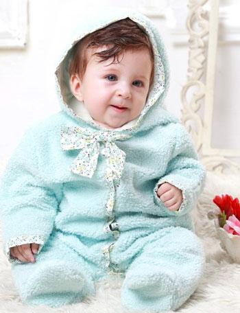 マシュマロボアジャンプスーツ 小花柄リボン付き dg2004 カバーオール/防寒着 デザイナーズ ギルド