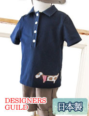 【S】デザイナーズ ギルド アニマルモチーフ ベビーポロシャツ dg3007 赤ちゃん/ベビーウェア/半袖 【日本製】