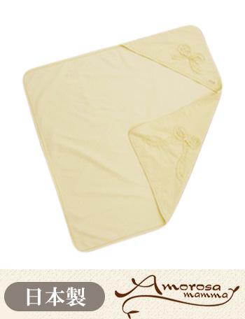 Amorosa mamma 天使の糸 オーガニックコットン クシュクシュリボンのアフガン ac021 ベビー服/おくるみ 【日本製】