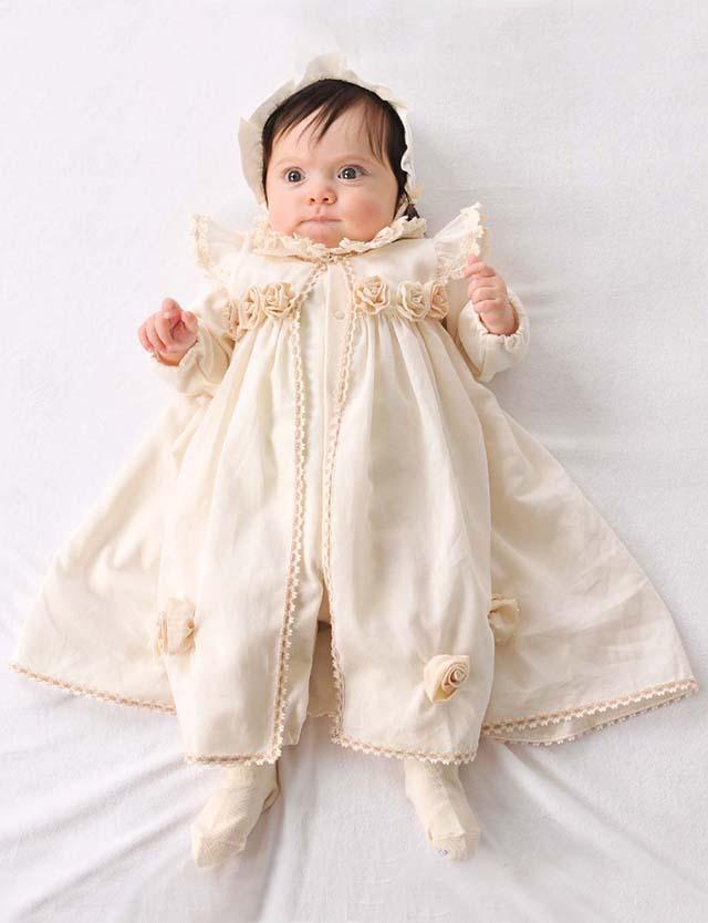 Amorosa mamma ローズのセレモニードレス セット ac026 赤ちゃん/ベビー/ドレス/ベビー服 【日本製】 [送料無料]