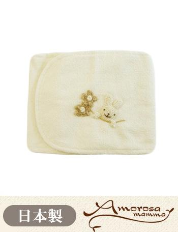 【メール便可】Amorosa mamma 天使の糸 オーガニックコットン はらまき うさぎモチーフ ag142 ベビー服/はらまき [M便 6/6]【日本製】