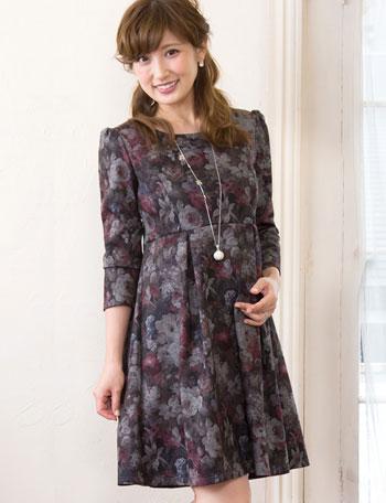 熊田曜子さんもお気に入り♪ フラワープリント ポンチワンピ ko5059 授乳服マタニティウェア
