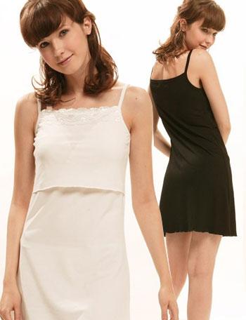 【メール便可】授乳服 レーシーインナー授乳キャミワンピース(クララ) ma737-2 [M便 6/6] お手持ちのワンピが授乳服に