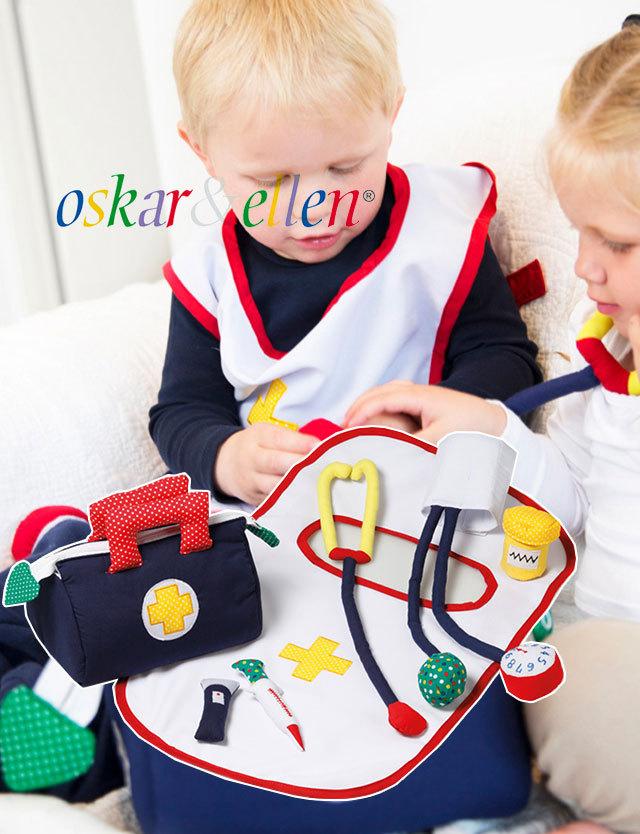 北欧スウェーデン Oskar&Ellen ふわふわ可愛い【ドクターバッグ】  oe212 おもちゃ/ソフトトイ/知育玩具/布おもちゃ/1歳 2歳 3歳/誕生祝い/プレゼント