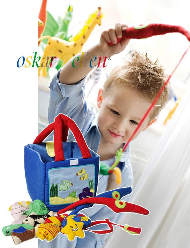 北欧スウェーデン Oskar&Ellen ふわふわ可愛い【フィッシングバッグ】 oe203 おもちゃ/ソフトトイ/知育玩具/布おもちゃ/1歳 2歳 3歳/誕生祝い/プレゼント