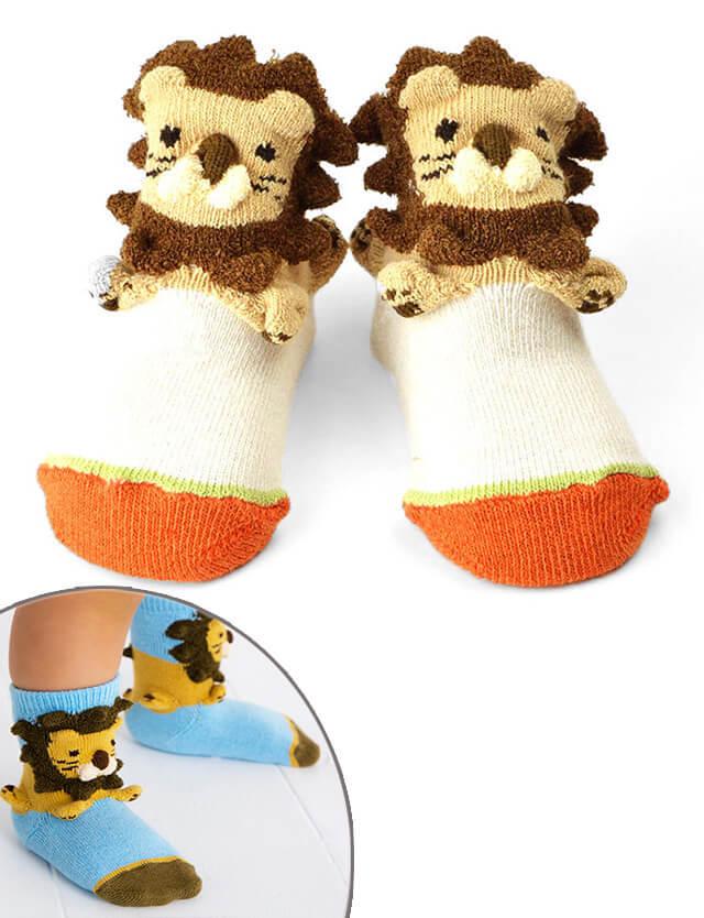pompkins BABY ベビーソックス(ライオン) pp1212251 赤ちゃん/ソックス/靴下 【日本製】