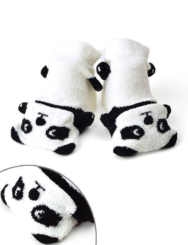 pompkins BABY ベビーソックス パンダ  pp1322281 赤ちゃん/ソックス/靴下 【日本製】