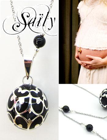 Saily ボラス メロディボール ネックレス グラムール ブラック sa1100dxb1妊婦さんへのプレゼントに!胎教にもよい美しい鈴音