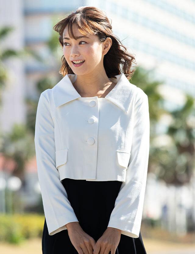 授乳服マタニティフォーマル 三つボタン広襟ショートジャケット sj2016 結婚式/お宮参り/七五三