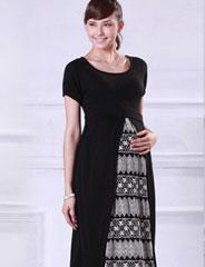 授乳服マタニティフォーマル チュールレース使い授乳ワンピース so1052 半袖/結婚式/ドレス