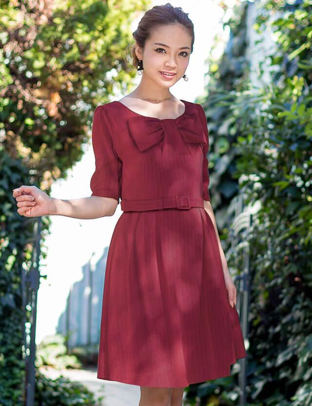 授乳服マタニティウェア リボンデザイン ワンピース so5144