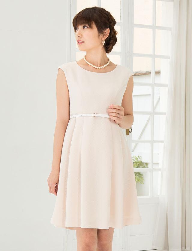 【SALE~2/23まで】ベルト付き ソフトツイードワンピ―ス so6016 マタニティウェア授乳服フォーマル/ドレス