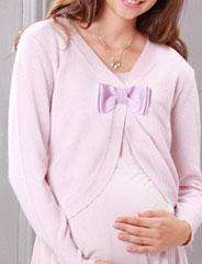 授乳服マタニティフォーマル カシミア100% リボン付きボレロ風カーディガン mk0071 ケープ