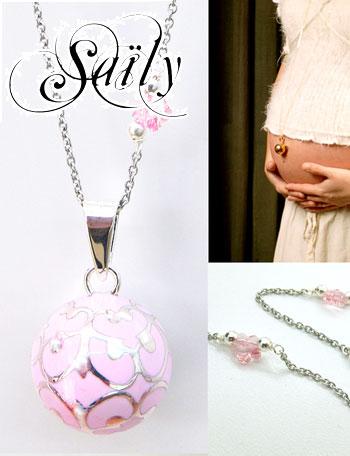 【熊田曜子さんおすすめ】Saily ボラス メロディボール ネックレス グラムール ピンク sa1100c18b18 妊婦さんへのプレゼントに!胎教にもよい美しい鈴音