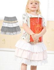 スウィートフェアリーズ たっぷりレースがキュートな ティアードスカート sf8015 子供服/女の子