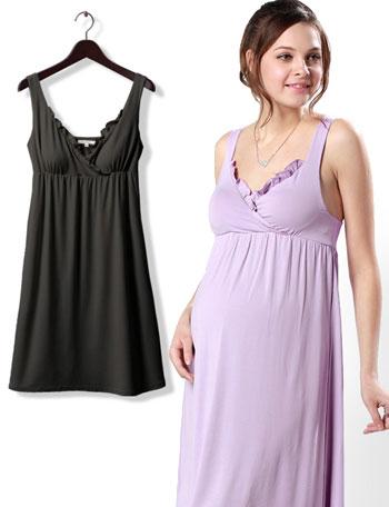 授乳服マタニティ お肌に優しい竹繊維授乳インナー(パッド付きインナーワンピース) so0179