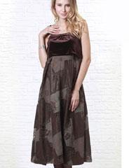 授乳服マタニティ イタリアンミックスツイード授乳ロングドレス(シモーヌ) so1101 フォーマル