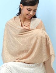 授乳ストール ラメ混変わり織りフォーマル3WAY授乳ストール sp2139 ナーシングケープ/出産準備