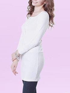 ヘンリーネック 授乳 チュニック Tシャツ 授乳服[st0261]