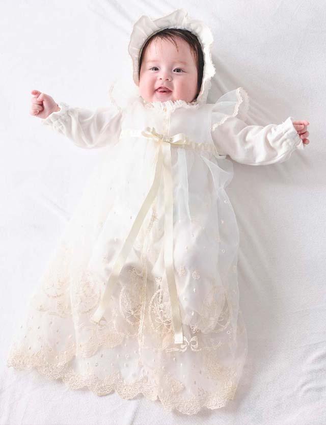 Youseino mori 妖精の森 クラシカルレースのセレモニードレス3点セット ホワイト yc030 赤ちゃん/ベビー服 【日本製】 [送料無料]