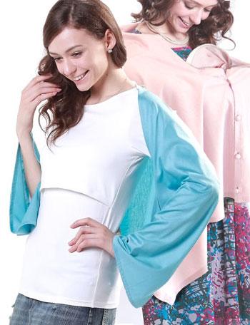 授乳服マタニティウェア UVカット加工&汗じみ防止加工授乳ストール yp0001 3色/授乳の目隠しに/ボタン付き