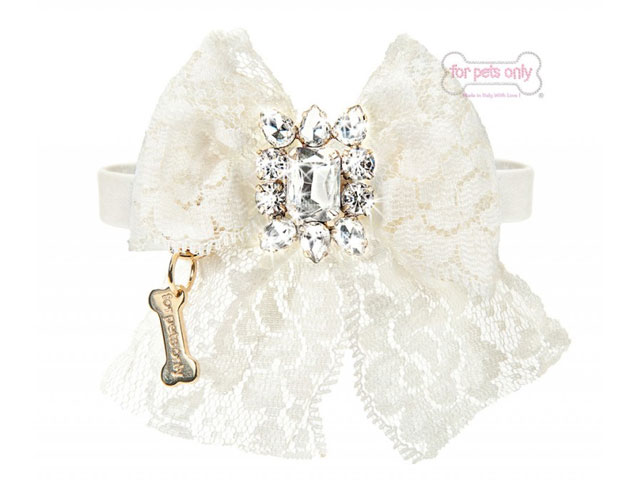 【For Pets Only★フォー・ペッツ・オンリー】Cocktail Party Collar White