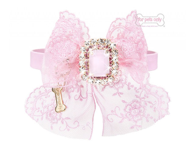 【For Pets Only★フォー・ペッツ・オンリー】Cocktail Party Collar Pink