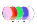 「LRGBC」カラー合成用フィルター(5枚セット) STL用