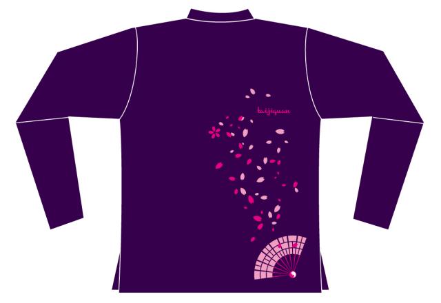 Taijilogo Tシャツ#H016L-hn (ハイグラ、長袖、ハイネック)