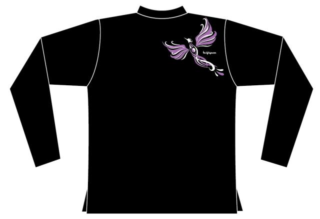 Taijilogo Tシャツ#H202L-hn (ハイグラ、長袖、ハイネック)